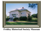 Fridley Historical Society Museum